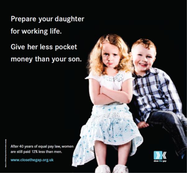 Image of Close the Gap campaign postcard
