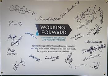 Signed pledge board