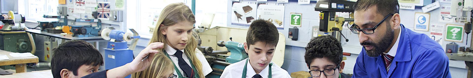 A teacher in a classroom of pupils