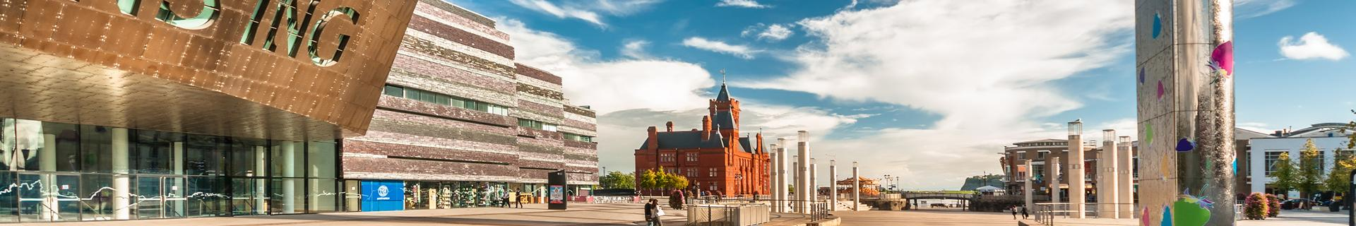 A view across Cardiff