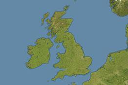 Aerial image of the United Kingdom
