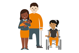 Graphic representing a family