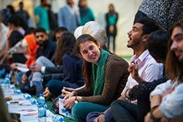 People gather to celebrate Ramadan