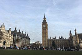 Photo of the Palace of Westminster, taken from Parliament Square