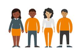 Infographic people representing ethnicity