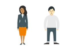 Infographic people representing gender