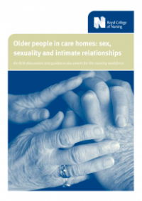 This is the cover of Older people in care homes: sex, sexuality and intimate relationships