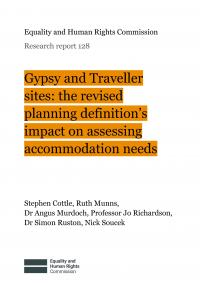 Gypsy and Traveller sites: the revised planning definition's impact on assessing accomodation needs - report cover