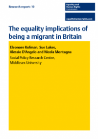 This is the cover Equality implications of being a migrant in britain publication