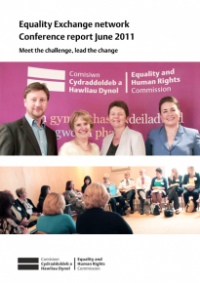 This is the cover of Equality Exchange conference report 2011: meet the challenge, lead the change