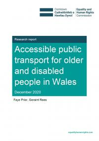 Accessible public transport for older and disabled people in Wales report cover