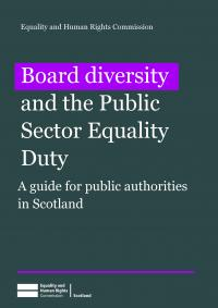 Board diversity and the Public Sector Equality Duty publication cover