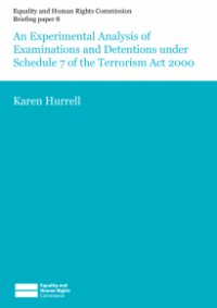 This is the cover of Briefing paper 8: an experimental analysis of examinations and detentions under Schedule 7 of the Terrorism Act 2000