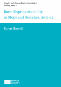 This is the cover of Briefing paper 7: race disproportionality in stops and searches 2011-12