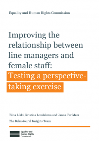 cover image for the publication 'Improving the relationship between line managers and female staff'