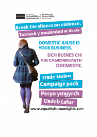 This is the cover of Domestica abuse in your business: trade union pack