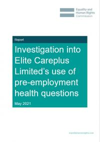 Investigation into Elite Careplus Limited's use of pre-employment health questions