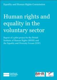 This is the cover for Human rights and equality in the voluntary sector report