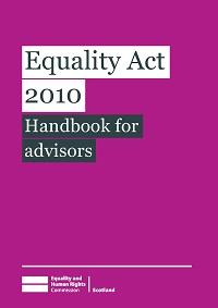Cover of Equality Act 2010 Handbook for Advisors