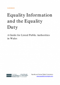 This is the cover for Equality information and equality duty (Wales) publication