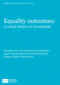 This is the cover of Equality outcomes: a social return on investment publication