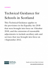 This is the cover of Techincal guidance for schools in Scotland
