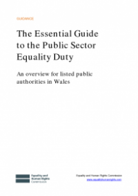 This is the cover for The essential guide to the public sector equality duty (Wales)