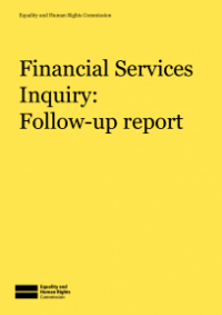 This is the cover of Financial services inquiry: follow-up report publication