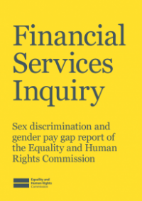 This is the cover of the Financial services inquiry publication