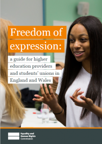 Front cover of freedom of expression guide