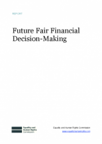 This is the cover for Fair future financial decision-making publication