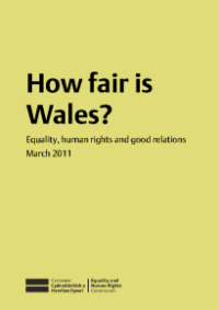 This is the cover for How fair is Wales? publication