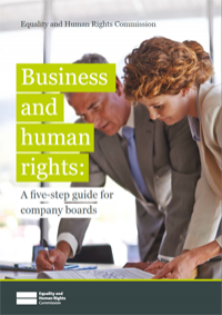 Cover of the business and human rights guidance for board directors publication