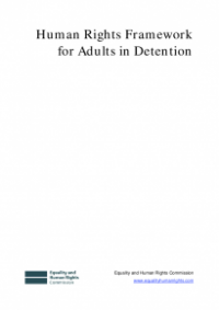 This is the cover of the Human rights framework for adults in detention