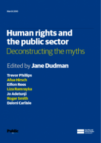 This is the cover for Human rights and the public sector: deconstructing the myths