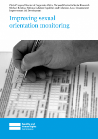 This is the cover of Improving sexual orientation monitoring report