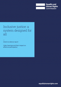 Inclusive justice: a system designed for all (interim evidence report)