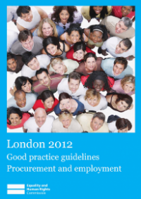 This is the cover for London 2012 good practice guidlines procurement and employment