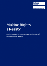 This is the cover of Making rights a reality publication