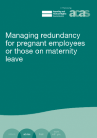 This is the cover for Managing redundancy for pregnant employees or those on maternity leave