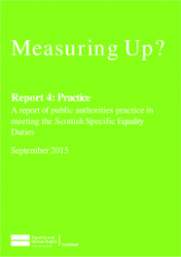 This is the cover of Measuring UP? Report 4: Practice