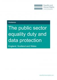 The public sector equality duty and data protection
