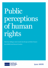 This is the cover for Public perceptions of human rights publication