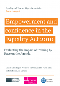Publication cover: Empowerment and confidence in the Equality Act 2010