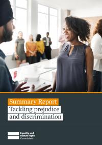 Publication cover: Tackling prejudice and discrimination summary report