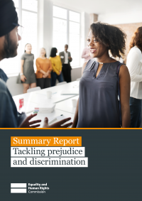 Publication cover: Tackling prejudice and discrimination summary report