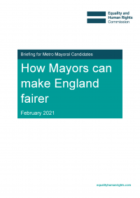 Publication cover: How mayors can make England fairer