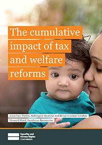 Publication cover: The cumulative impact of tax and welfare reforms