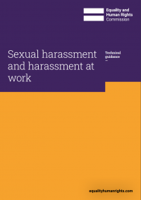 Publication cover: Sexual harassment and harassment at work