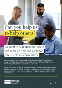 Publication cover: Can you help us to help others?